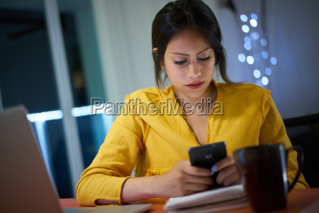 college student studying at night types