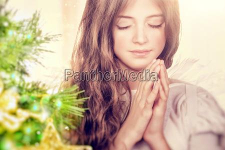religioso vacanza anima albero di natale
