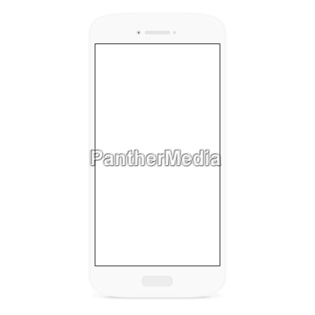 white flat phone white screen illustration