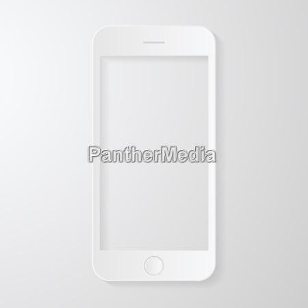 telefono cellulare disegno stile carta