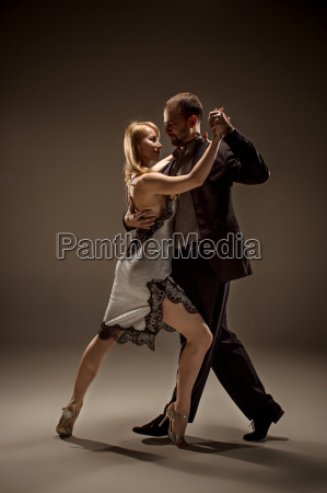 the man and the woman dancing