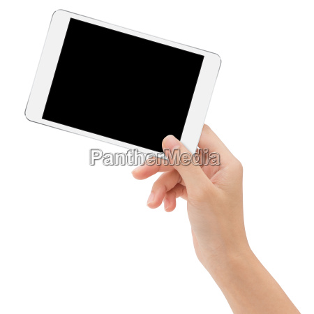 close-up, mano, tenendo, mock-up, tablet, digitale - 19735775