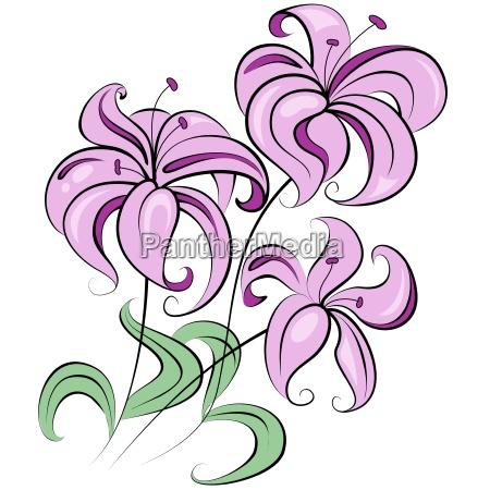 bello bella foglia rilasciato campo fiore