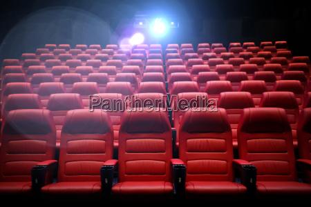 auditorium vuoto del teatro di film