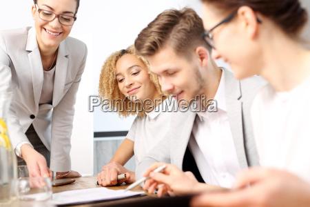 ufficio lavoro di squadra team work