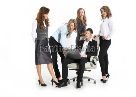 azienda giovane capo e un gruppo