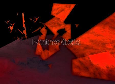 rotto digitale astratto frattale disfacimento poligonale
