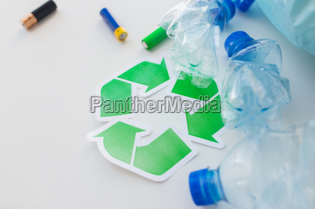 close up of used bottles and