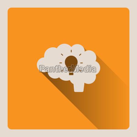 cervello pensiero di unillustrazione idea