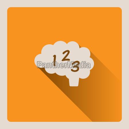 brain, thinking, in, mathematics, illustration, on - 20109442