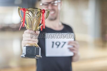 trofeo della holding del vincitore di