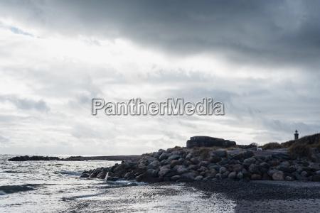 denmark skagen bunker and lighthouse at