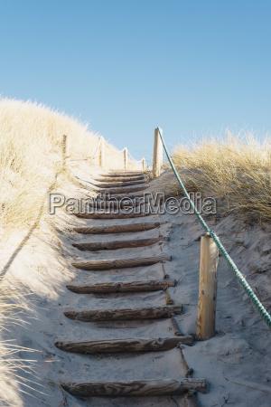 denmark hirtshals path through dunes