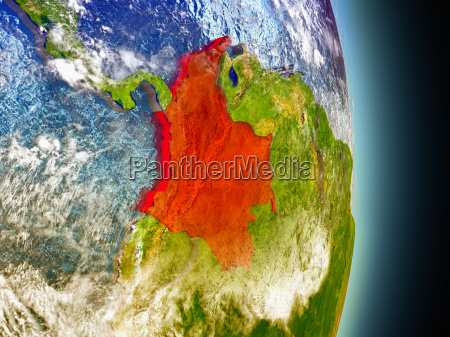 spazio scienza illustrazione satellite sudamerica colombia