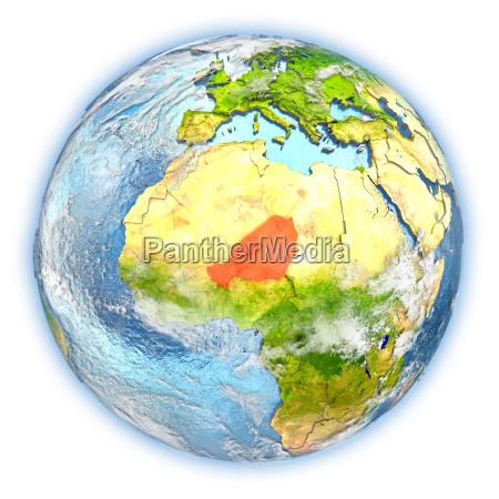 rilasciato africa illustrazione appartato satellite atmosfera
