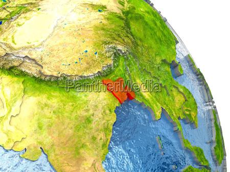 ambiente scienza asia illustrazione satellite paese