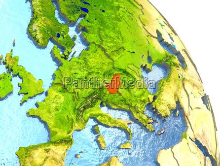ambiente scienza europa illustrazione satellite ungheria