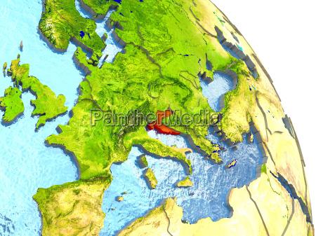 ambiente scienza europa illustrazione satellite croazia