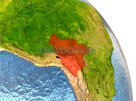 bolivia sulla terra in rosso