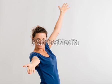 ritratto di una donna matura felice