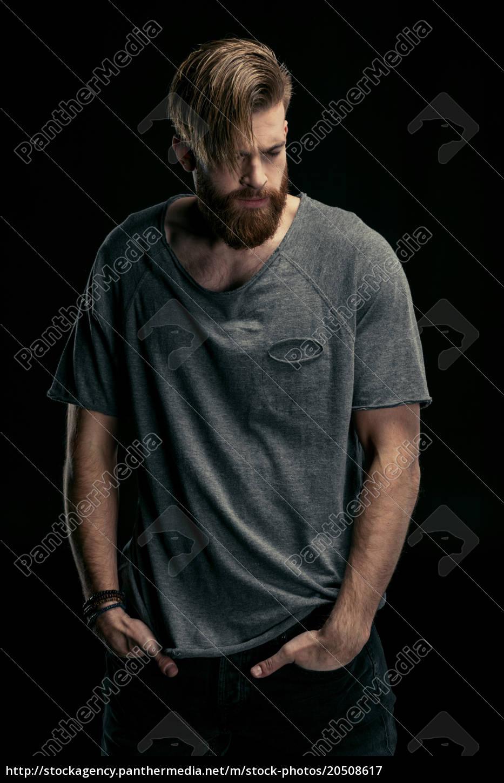 ritratto, di, uomo, elegante, in, camicia - 20508617
