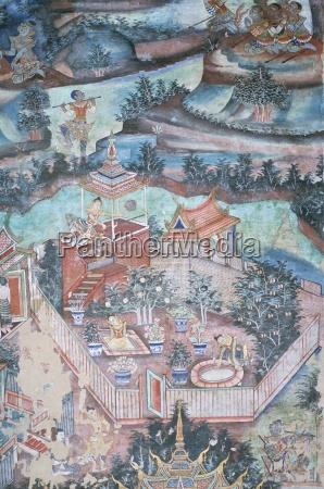 18th century murals inside lai kham