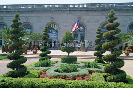 topiary nei giardini botanici degli stati