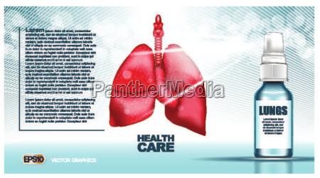 struttura digitale rossa di polmoni di