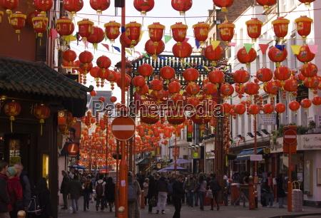gerrard street chinatown durante cinesi festeggiamenti