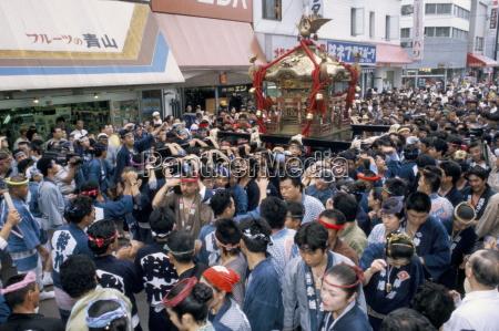 santuario portatile mikoshi festival del santuario