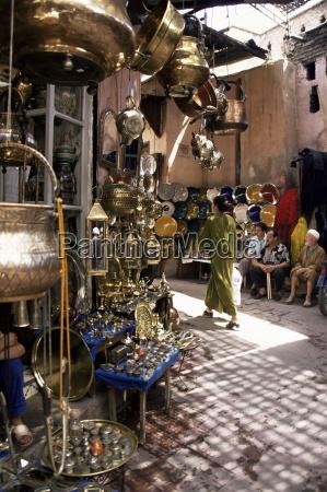 artigianato souk marrakech marocco nord africa