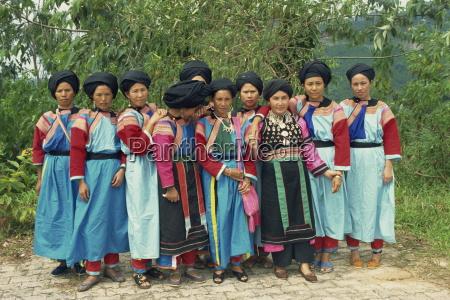 portrait of lisu hill tribe women