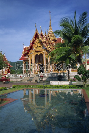 temple of wat chalong phuket thailand