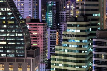 high rise buildings of bangkok at