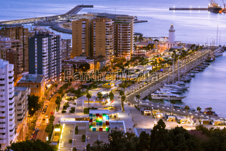 paesaggio urbano di malaga andalusia spagna