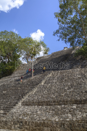 structure 1 calakmul mayan archaeological site