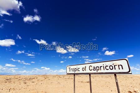 tropico del segno del capricorno deserto