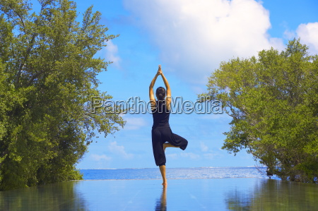 yoga meditation full moon island male