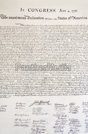 copia della dichiarazione di indipendenza in