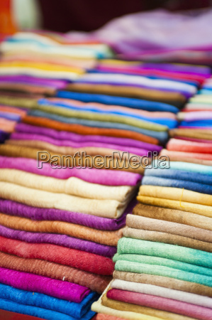traditional silk scarves of northern thailand