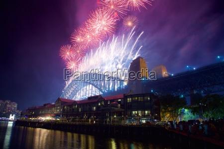 sydney harbour bridge capodanno fuochi