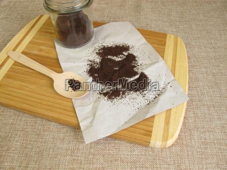 caffe asciugato seccato detergente fondi di