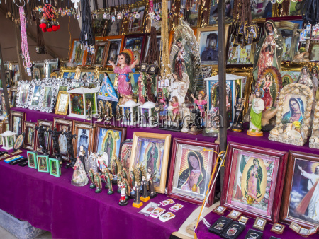 stall selling holy images fiesta of