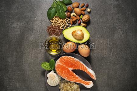 alimento sano con i pesci del