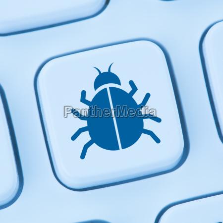 computer virus trojan security su internet