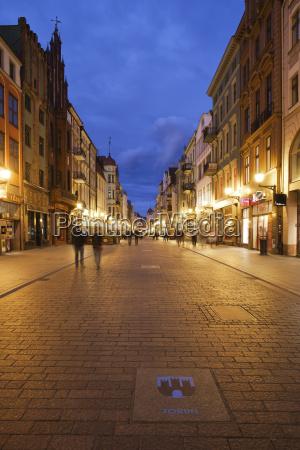 storico citta sera allaperto illuminato luce