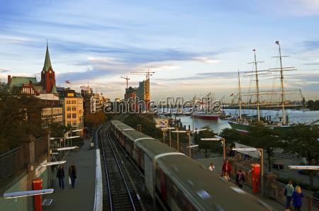 germania amburgo vista del treno della