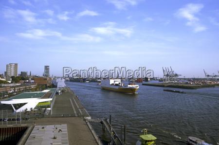 germania amburgo vista del porto con