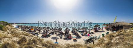 spain majorca crowded beach es trenc