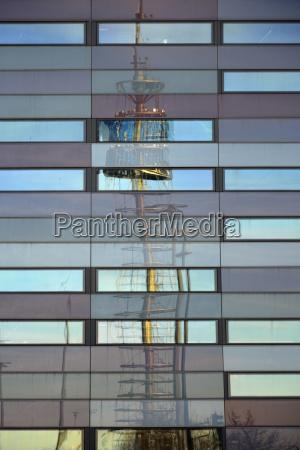 torre moderno finestra riflesso baviera germania